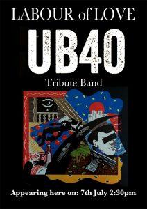 UB40 – July 7th, 2pm