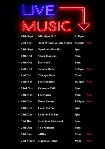 Live Music – Club Entertainment for 2019