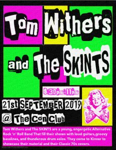 Tom Withers and The Skints – 21st September 8:30pm