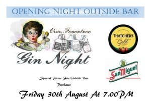 Upcoming Attractions – GIN BAR opening night