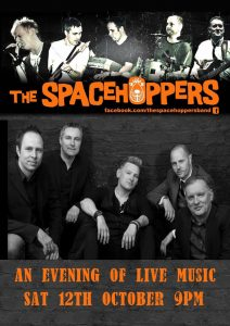 The Spacehoppers – 12th October – 9pm