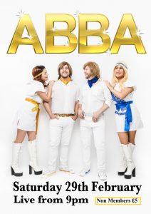 ABBA – Saturday 29th February at 9pm